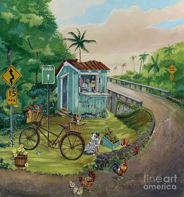 Road To Hana Poster by Bill Shelton
