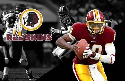 Robert Griffin IIi Redskins Poster by Joe Hamilton