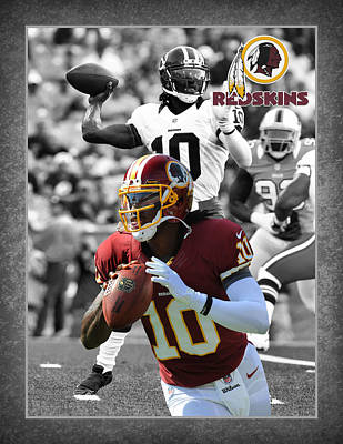 Robert Griffin Rgiii Redskins Poster by Joe Hamilton