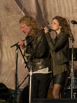 Robert Plant And Patty Griffin Poster by Bill Gallagher