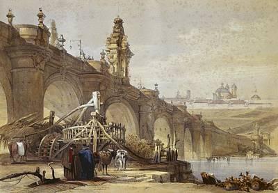 Roberts, David 1796-1864. Toledo Bridge Poster by Everett