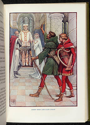 Robin Hood And Alan-a-dale Poster by British Library