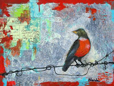 Robin Love Letter  Poster by Blenda Studio