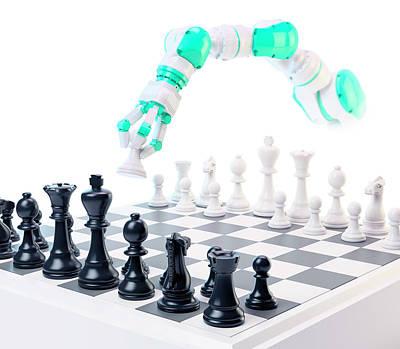 Robotic Arm Playing Chess Poster by Andrzej Wojcicki