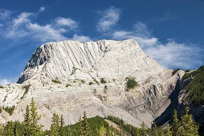 Roche Miette In The Canadian Rockies Poster by Ashley Cooper
