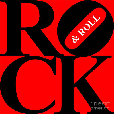 Rock And Roll 20130708 Black Red White Poster by Wingsdomain Art and Photography