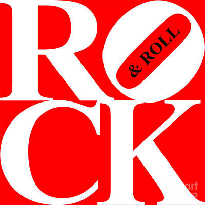 Rock And Roll 20130708 White Red Black Poster by Wingsdomain Art and Photography