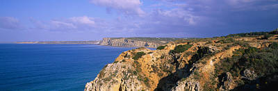 Rock Formations At A Seaside, Algarve Poster by Panoramic Images