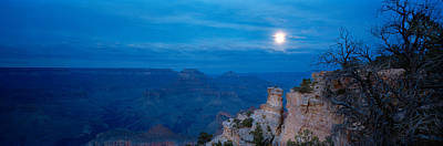 Rock Formations At Night, Yaki Point Poster by Panoramic Images