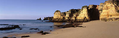 Rock Formations On The Coast, Algarve Poster by Panoramic Images