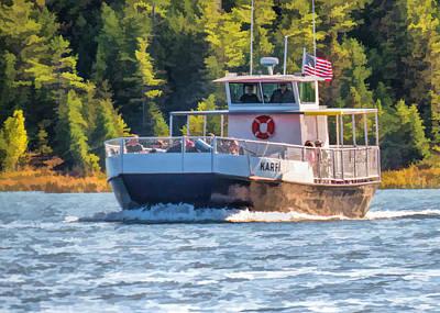 Rock Island Karfi Ferry In Door County Poster by Christopher Arndt