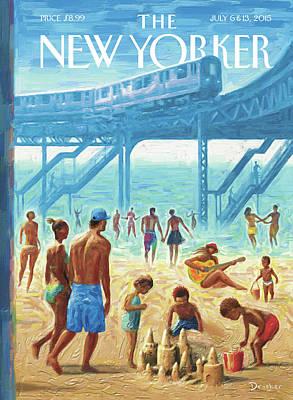 Rockaway Beach Poster by Eric Drooker