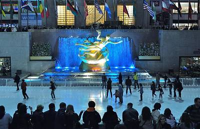 Rockefeller Center Skating Rink Poster by Allen Beatty