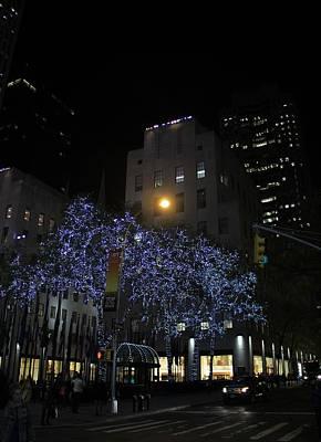 Rockefeller Plaza Lights Poster by Dan Sproul