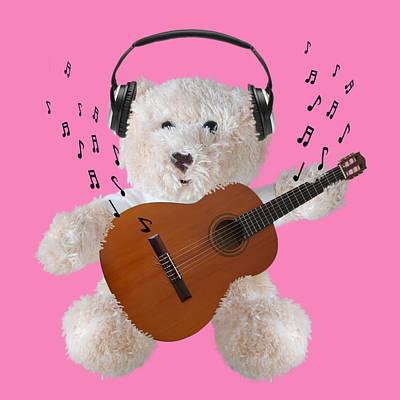 Rockin Teddy Poster by Gill Billington