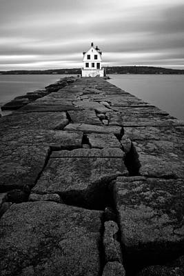 Rockland Breakwater Light Poster by Patrick Downey