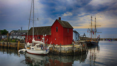 Rockport Harbor Motif Number 1 Poster by Stephen Stookey