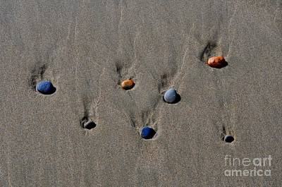 Rocks On A Beach Poster by Mandy Judson