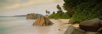 Rocks On The Beach, La Digue Island Poster by Panoramic Images