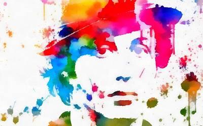 Rocky Balboa Paint Splatter Poster by Dan Sproul