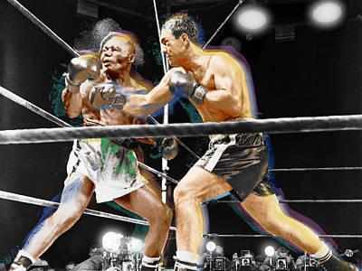 Rocky Marciano V Jersey Joe Walcott Poster by Tony Rubino