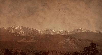 Rocky Mountain National Park In Sepia Poster by Dan Sproul
