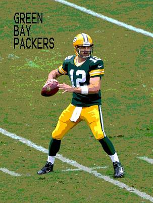 Aaron Rodgers Poster by Deena Stoddard