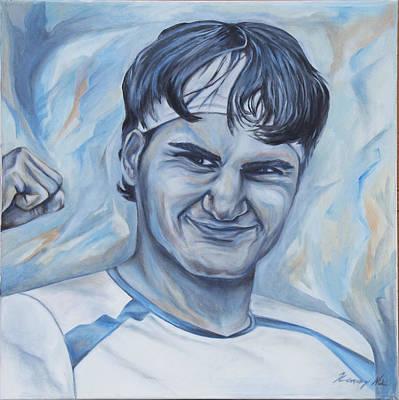 Roger Federer Poster by Nikolett Komeny