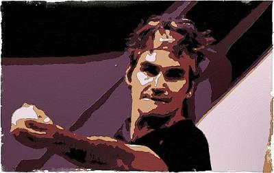Roger Federer Poster Art Poster by Florian Rodarte