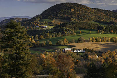 Rolling Hills Of Peacham Vermont - Autumn Scenic Poster by Thomas Schoeller