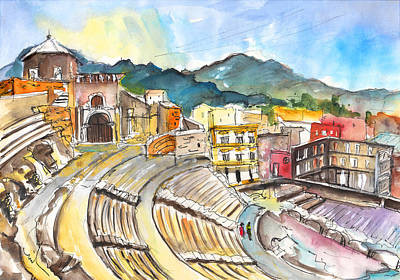 Roman Amphitheatre In Cartagena Poster by Miki De Goodaboom