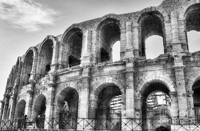 Roman Arena At Arles 2 Bw Poster by Mel Steinhauer