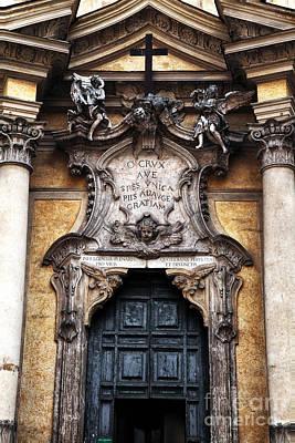 Rome Green Door Poster by John Rizzuto