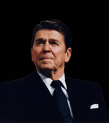 Ronald Reagan  1911 - 2004 Poster by Daniel Hagerman
