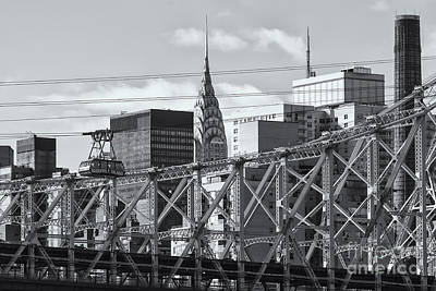 Roosevelt Island Tram And Manhattan Skyline II Poster by Clarence Holmes