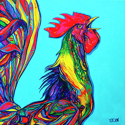 Rooster Crow Poster by Derrick Higgins