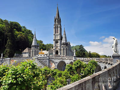 Rosary Basilica In Lourdes France Poster by Graham Taylor