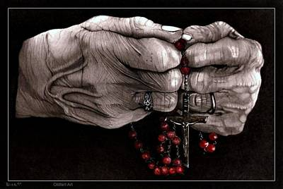 Rosary Poster by Terry  McColl