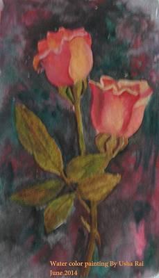 Rose Poster by Usha Rai