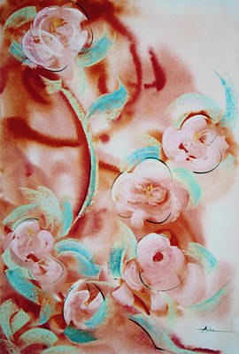 Roses And Rust Poster by Asha Carolyn Young