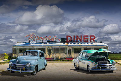 Rosie's Diner Poster by Randall Nyhof