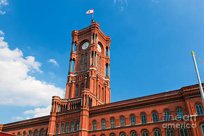 Rotes Rathaus The Town Hall Of Berlin Germany Poster by Michal Bednarek