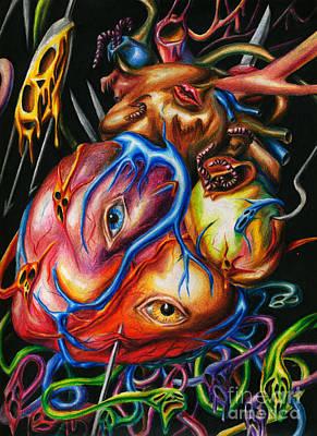 Rotting Heart Poster by Alisa Bogodarova