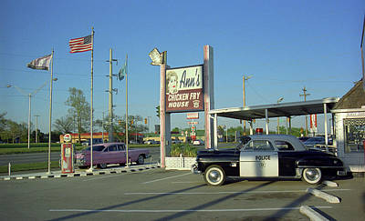 Route 66 - Anns Chicken Fry House Poster by Frank Romeo