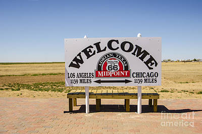 Route 66 Midpoint Sign Adrian Texas Poster by Deborah Smolinske
