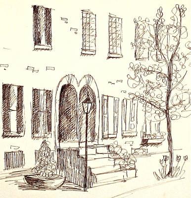Rowhouse Doorways In Spring Poster by Deborah Dendler