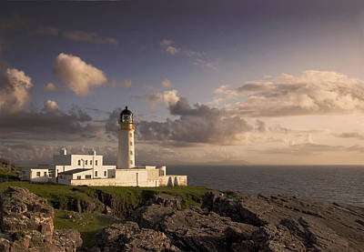 Rubha Reidh - Lighthouse Poster by Pat Speirs