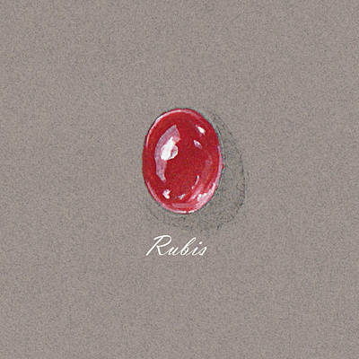 Rubis Cabochon Poster by Marie Esther NC