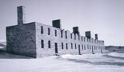 Ruins In Winter Poster by David Fiske