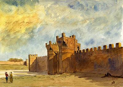 Ruins Morocco Poster by Juan  Bosco